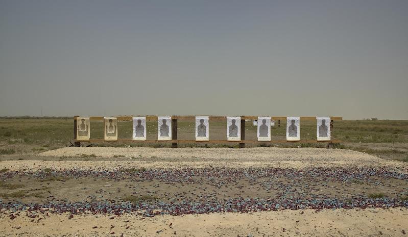 Border Patrol Target Range, Boca Chica Highway, Lower Rio Grande National Wildlife Refuge, Texas, 2013
