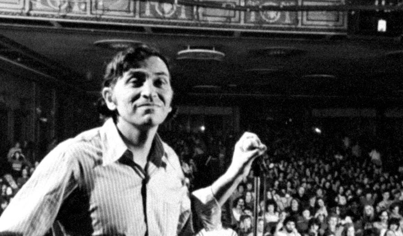 Photo by John Olson. Rock promoter Bill Graham onstage before the final concert at Fillmore East, New York, January 1, 1971.
