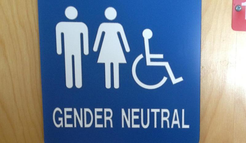 Gender Neutral bathrooms by Flickr User mar2a_13, used under CC by-NC-SA 2.0/resized and cropped
