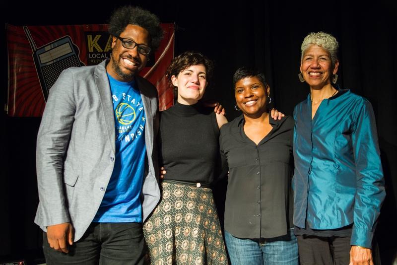 L-R: W. Kamau Bell, Avery Trufelman, Karina Dobbins, Ericka Huggins