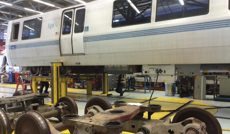 The BART repair garage in Richmond