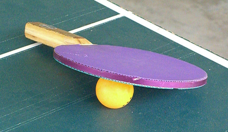 """""""Purple Ping Pong Paddle"""" by Flickr userJasper Fields, used under CC BY-NC-ND 2.0 / Resized and cropped"""