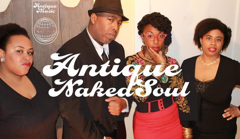 "Antique Naked Soul from left to right: N'gala McCoy, Tommy ""Soulati"" Shepherd, Jr., Candice ""Antique"" Wicks, Jayme Brown"