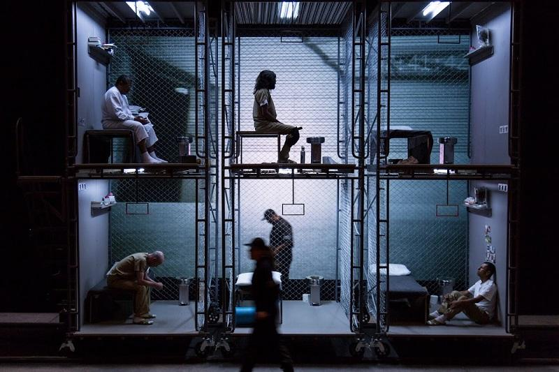 Performance of The Box, a play about solitary confinement