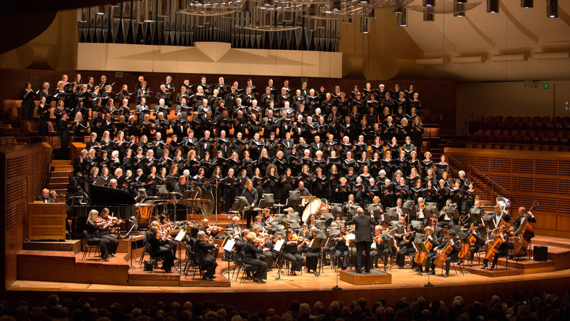 The San Francisco Choral Society at Davies Symphony Hall...