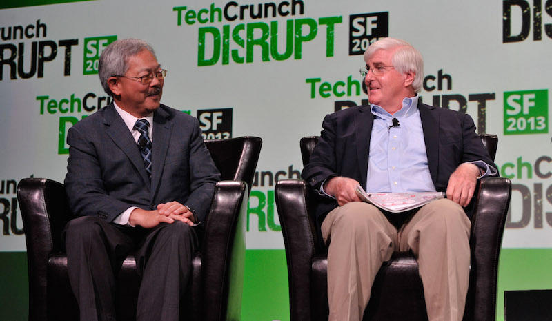 Mayor Ed Lee with tech investor Ron Conway
