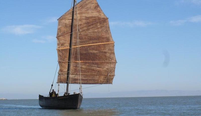 The Grace Quan sailing on the Bay