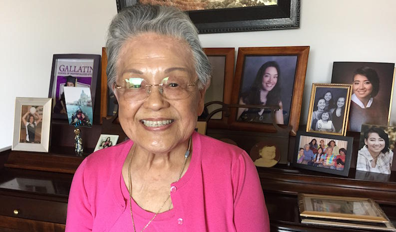 Hiroshima survivor May Yamaoka at ther home