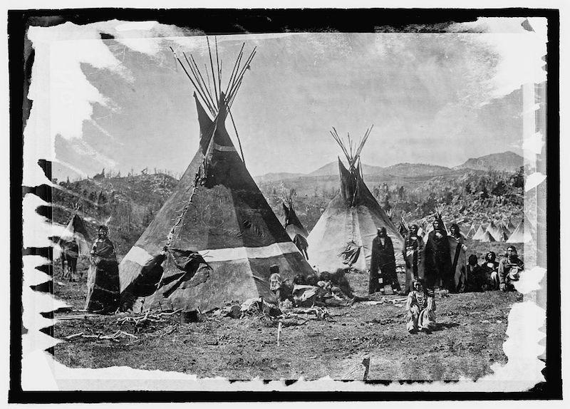 Shoshone Indians, a tribe that once lived in the area now known as Yellowstone National Park.