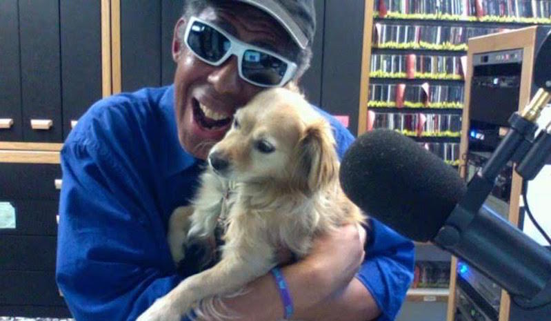 Ramon Johnson with his dog Navarro