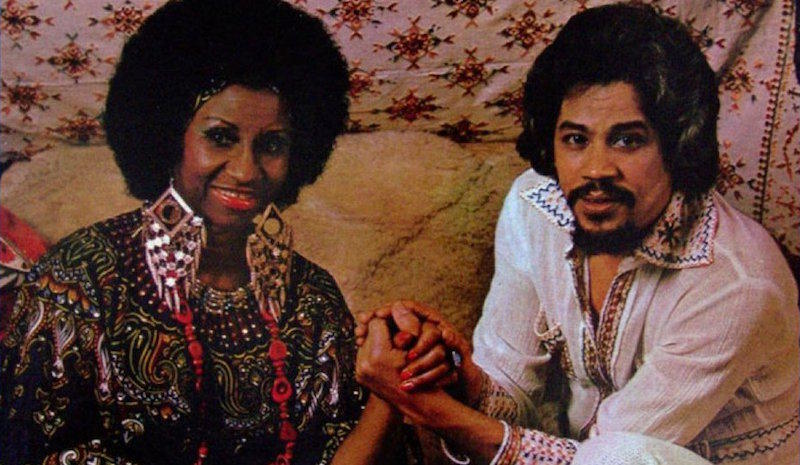 Celia Cruz & Johnny Pacheco on the cover of their first album together.