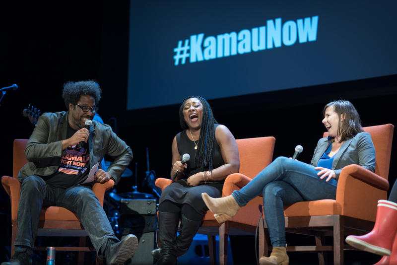 W. Kamau Bell. Alicia Garza, and Anna Sale
