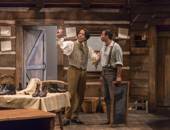 Brothers Addison (David Everett Moore - left)) and Frank (Lance Gardner) discuss plans for the future in the West Coast Premiere of 'Safe House' at the Aurora Theatre Company in Berkeley…
