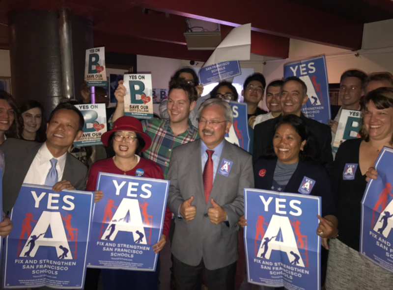 San Francisco voters passed education measures A and B last night.