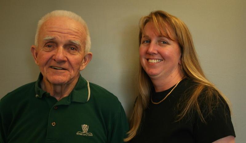 Bob Lauber and his daughter, Jennifer Mascari.