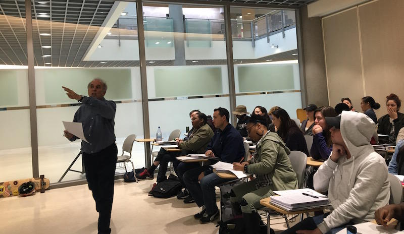 Daniel Najjar teaches an accelerated remedial math class at Berkeley City College on November 28, 2016