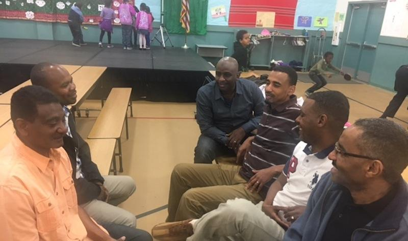 Ahmed Abdelsalam, Mohamed Abdelfattah,  Loay Merghani and others at Sudanese Community School