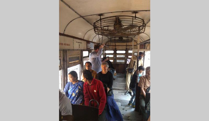 Firoozeh in tram