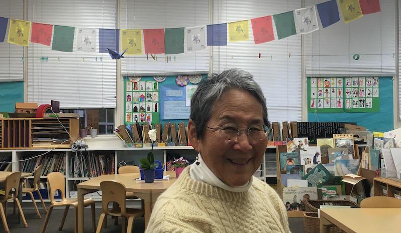 Janet Daijogo in her kindergarten classroom