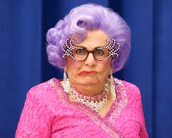 Happy 83rd birthday, Possums! (Dame Edna, aka Barry Humphries, birthday is today)