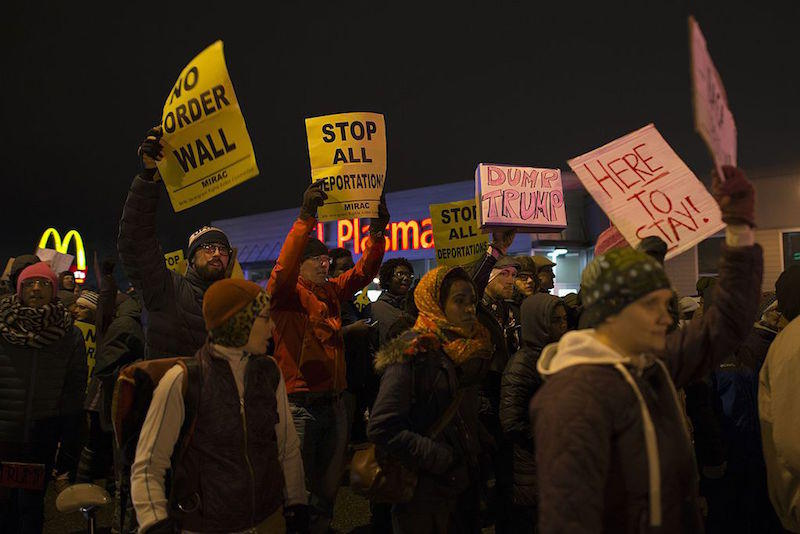 South Minneapolis protest on November 23, 2016
