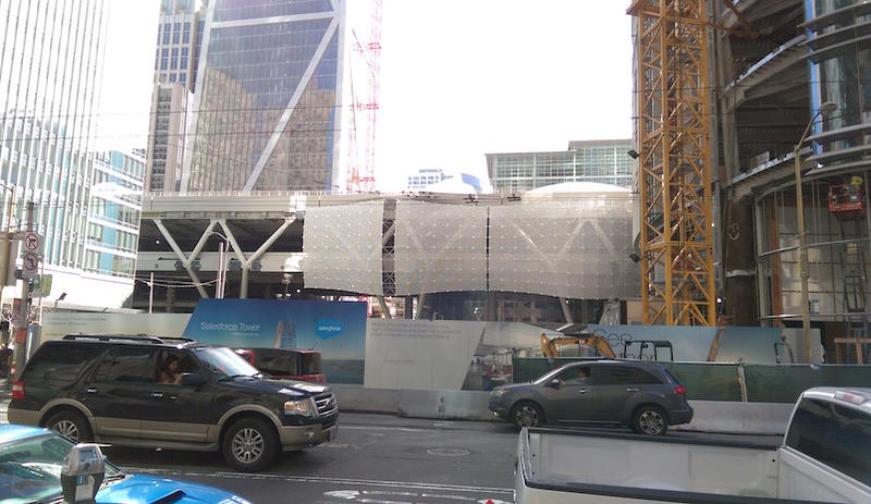 The Transbay Transit Center, where high-speed rail is headed