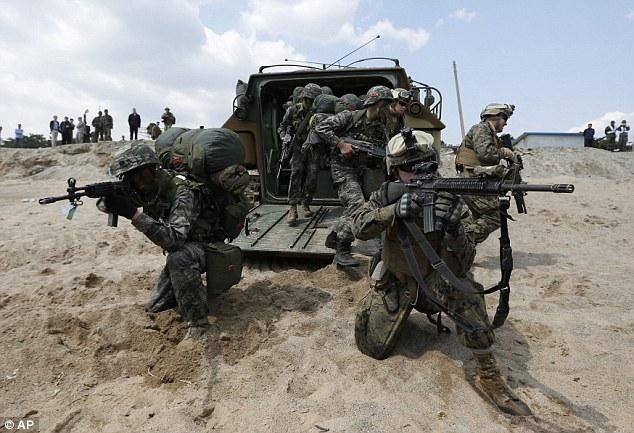 U.S.-South Korea joint military exercises in Pohang, south of Seoul