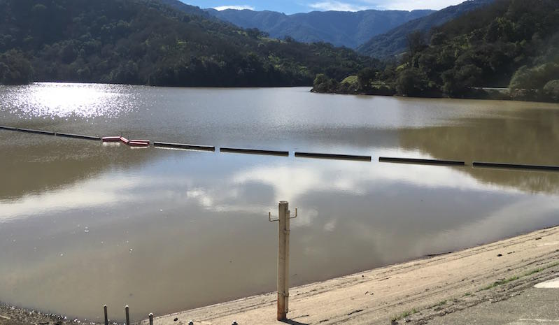 The Almaden dam in San Jose is almost at capacity