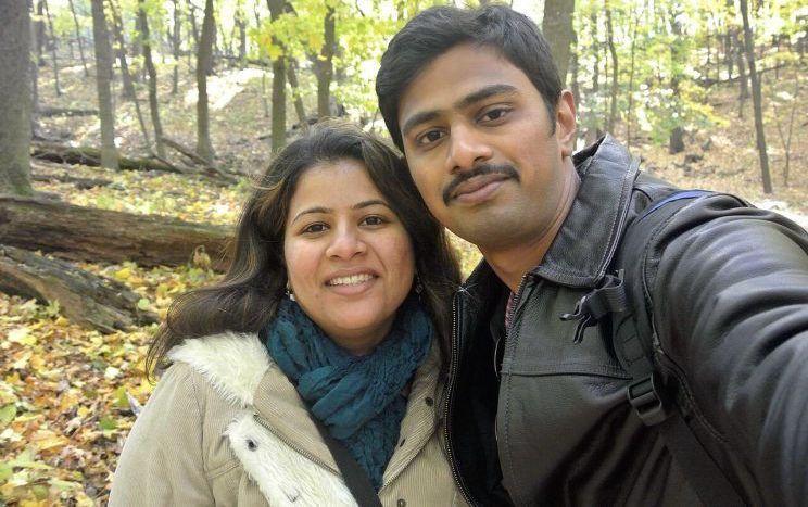 Srinivas and his wife