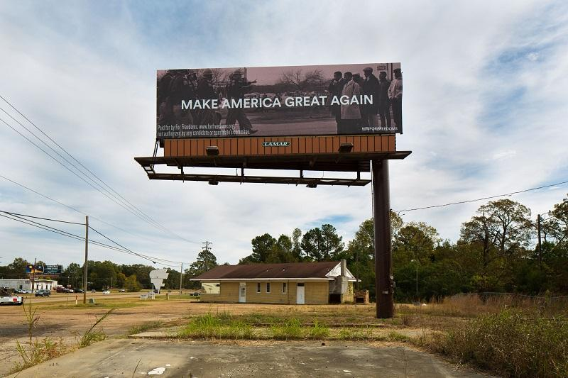 For Freedoms billboard in Pearl, Mississippi
