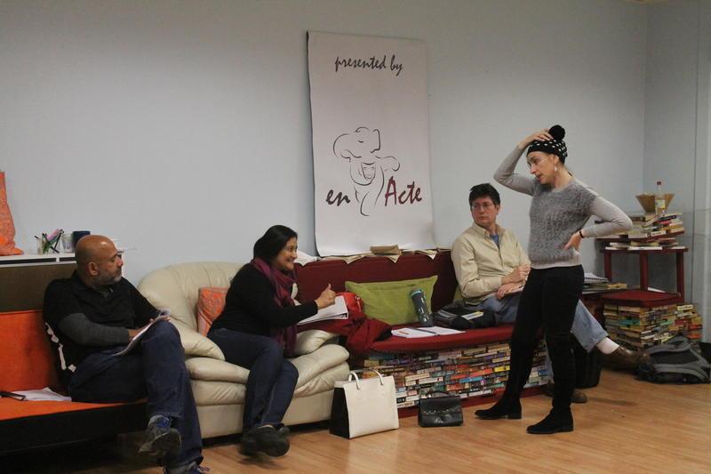EnActe Arts in rehearsal
