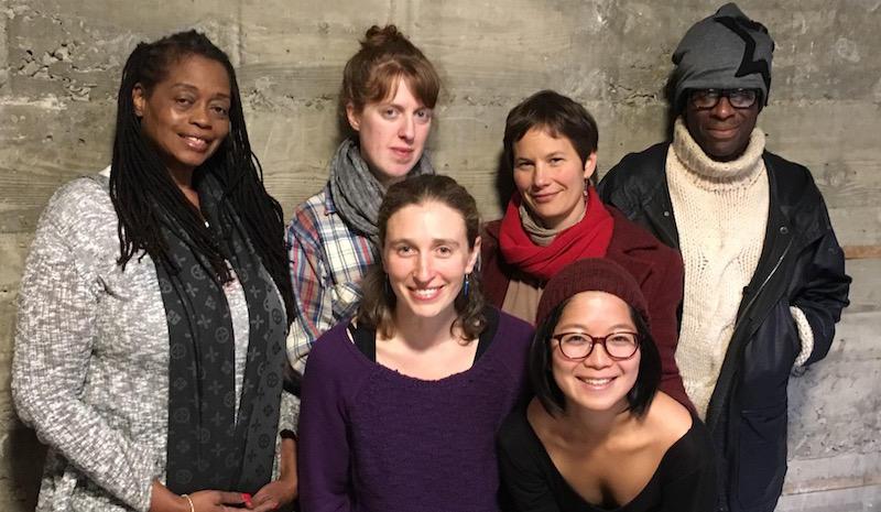 Clockwise from left: Ayodele Nzinga, Addie Ulrey, Amy Sass, Michael French, Sango Tajima, Anna Shneiderman