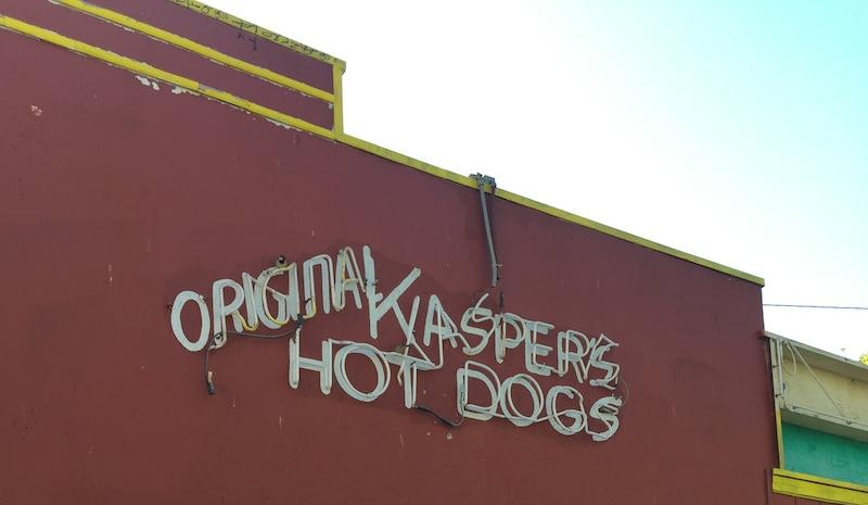 Old neons at Original Kasper's