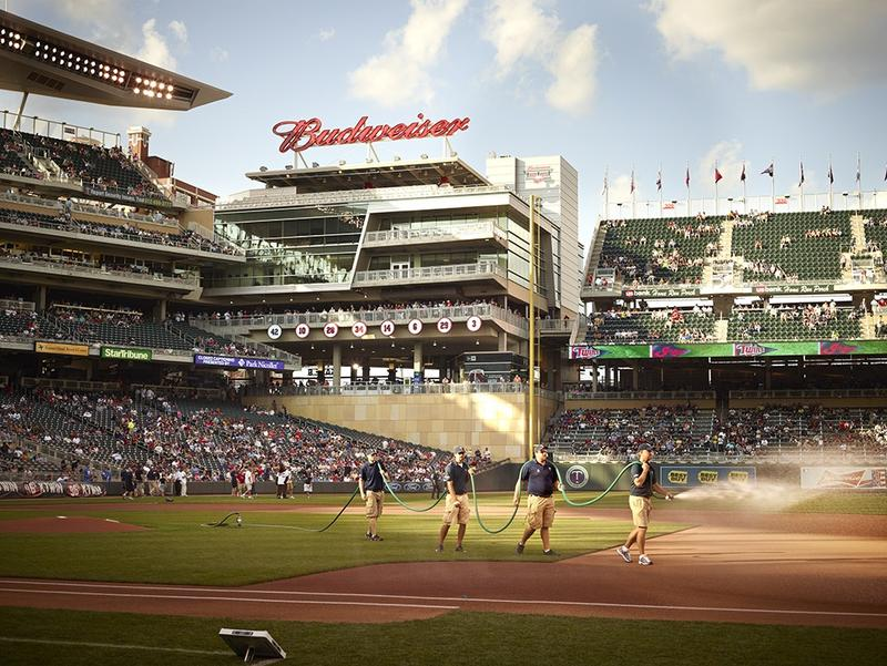 Groundskeeping crew for the Minnesota Twins