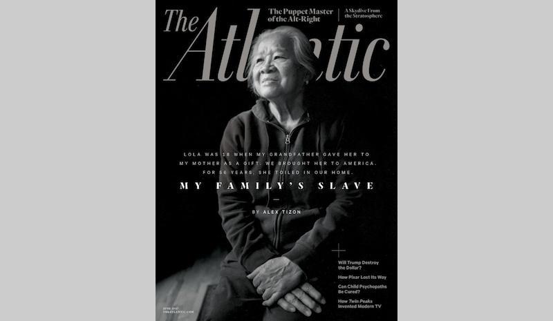 Atlantic Magazine cover with Alex Tizon's story. Courtesy of Atlantic Magazine.