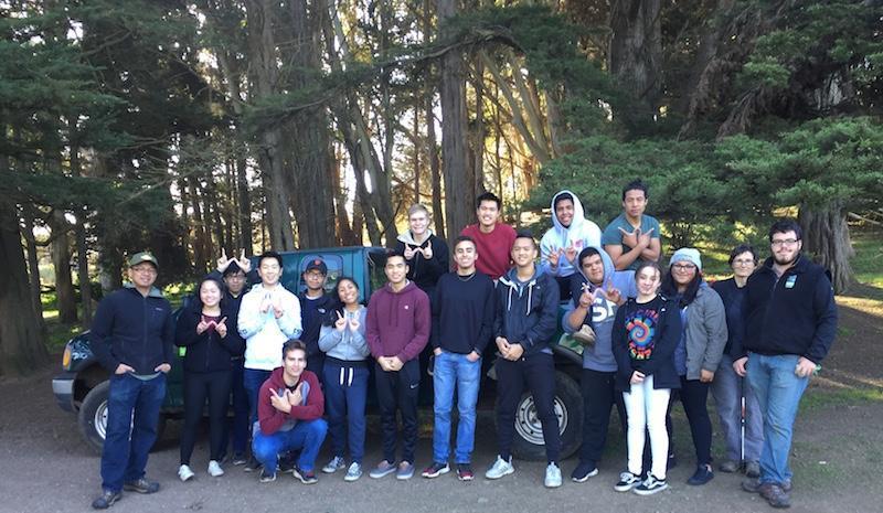Balboa High School students in San Francisco's McLaren Park