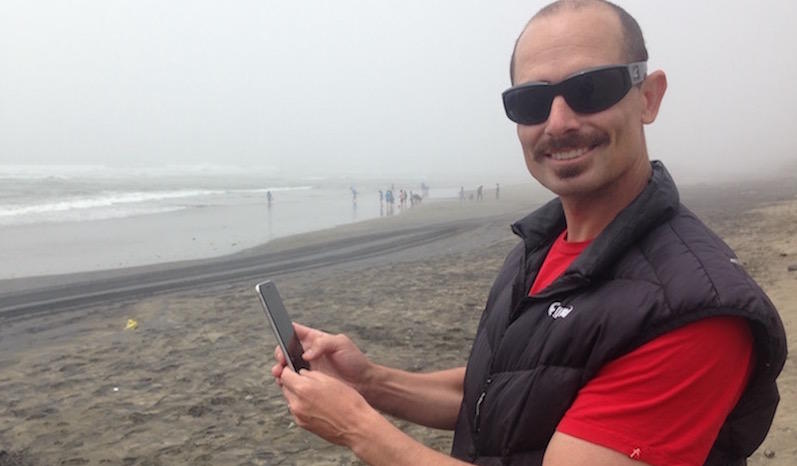 """John Brandon created the """"Beach Poo"""" Twitter bot to tweet out the city's water quality data."""