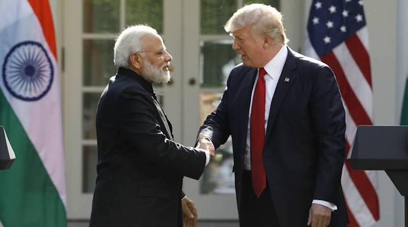 Prime Minister Modi and President Trump at the White House
