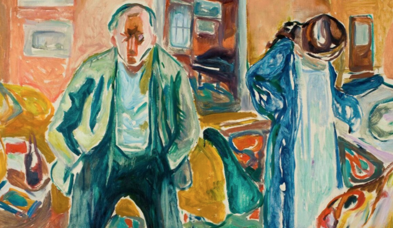 Edvard Munch,The Artist and His Model, 1919-21 (detail)