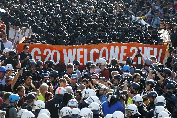 G20 PROTESTS in HAMBURG:
