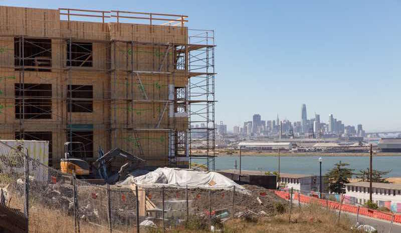 New construction taking place in Bayview Hunters Point