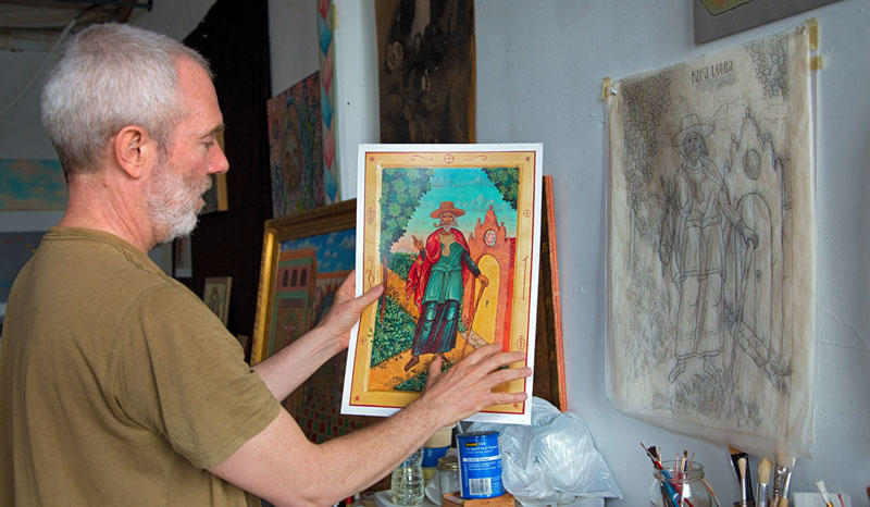 The Russian Orthodox style of iconography is both an artistic and spiritual practice for artist Sean Kramer.