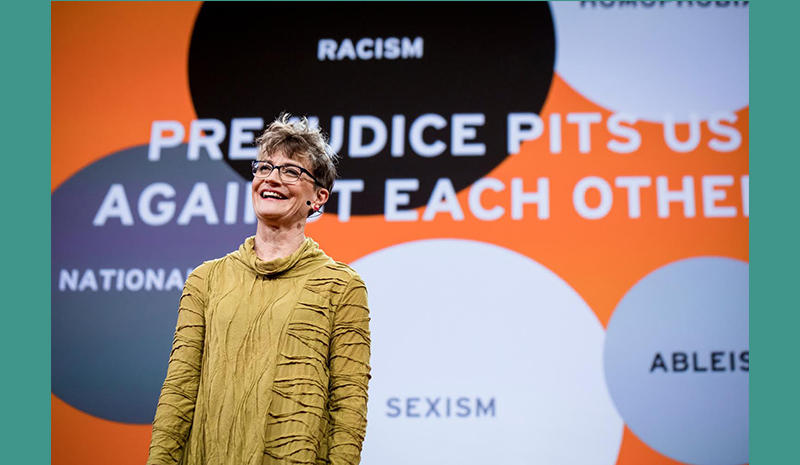 Ashton Applewhite on stage at TED