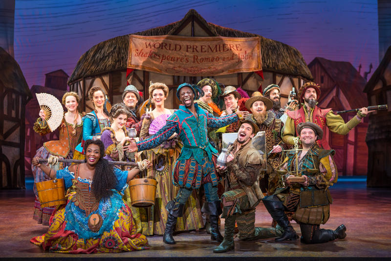 The cast of 'Something Rotten!', currently at the Orpheum in San Francisco…