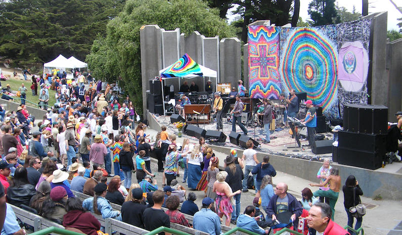 Jerry Day at the Jerry Garcia Amphitheatre in San Francisco's McLaren Park