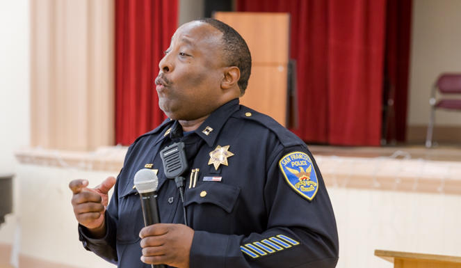 Captain John Sanford Jr. is responsible for the SFPD Park Station, which patrols the area of the syringe access program.