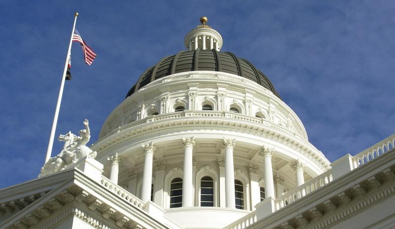 Dome of the California State Capitol; Sacramento, California