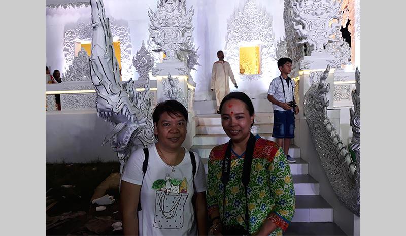 Thai citizens at the Durga Puja festival in Kolkata
