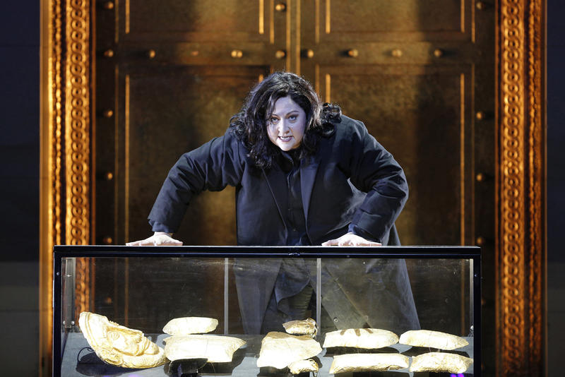 Soprano Christine Goerke in the San Francisco Opera production of 'Elektra' by Richard Strauss…