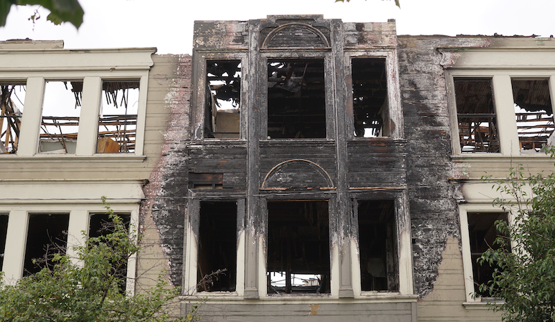 2551 San Pablo, six months after a fire killed four and displaced over 100